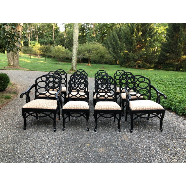 Vintage Frances Elkins Loop Dining Chairs - Set of 12 For Sale - Image 13 of 13