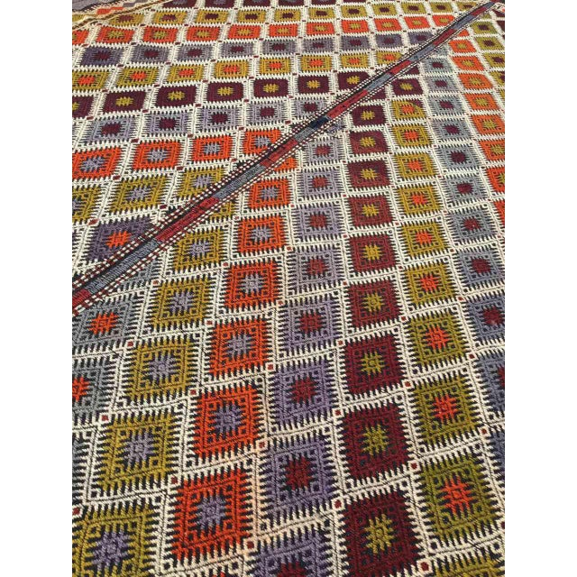 "Turkish Kilim Rug - 5'4"" X 9'1"" - Image 4 of 11"