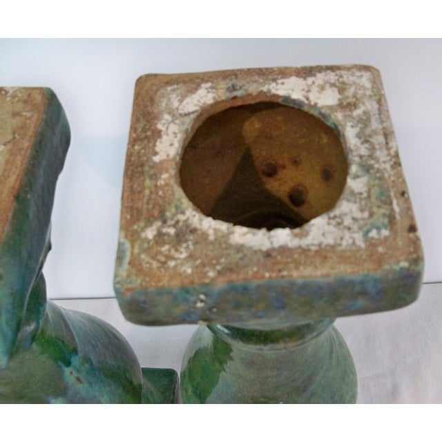 Antique Ceramic Balustrade Green Glazed Chinese 19th Century For Sale - Image 6 of 7