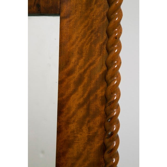 Mid 19th Century American Curly Maple Mirror For Sale - Image 4 of 6