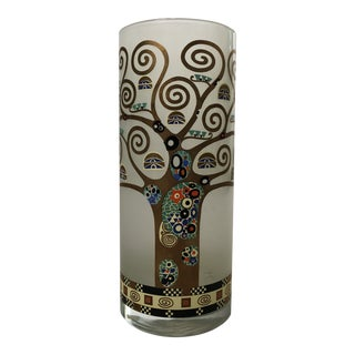 Gustav Klimt Glass Vase For Sale