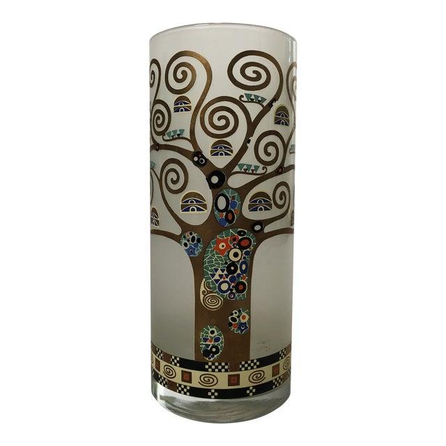 Gustav Klimt Glass Vase For Sale