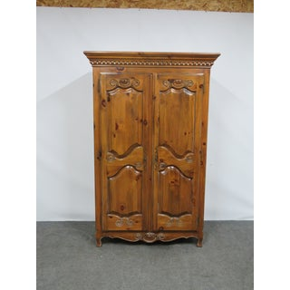 Ethan Allen Pine Country French Armoire Preview