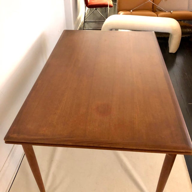 Brown Teak Dining Extension Table by Niels Moller For Sale - Image 8 of 10