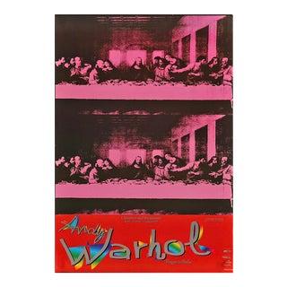 "Andy Warhol ""Viaggio in Italia"" The Last Supper Italian Museum/Art Exhibition Oversize Poster, 1997 For Sale"