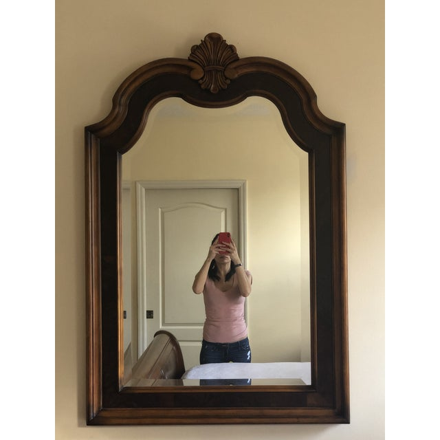 Traditional Traditional Arched Carved Wall Mirror For Sale - Image 3 of 3