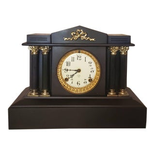 Late 19th Century Ansonia Architectural Mantel Clock For Sale