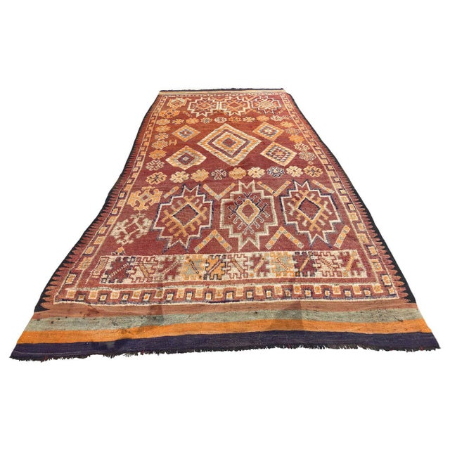 Moroccan Vintage Hand-woven Marrakech Tribal Rug, circa 1960 For Sale - Image 13 of 13