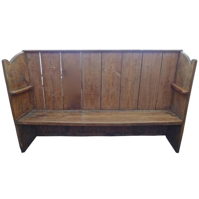19th Century English Stained Pine Church Pew For Sale - Image 12 of 12