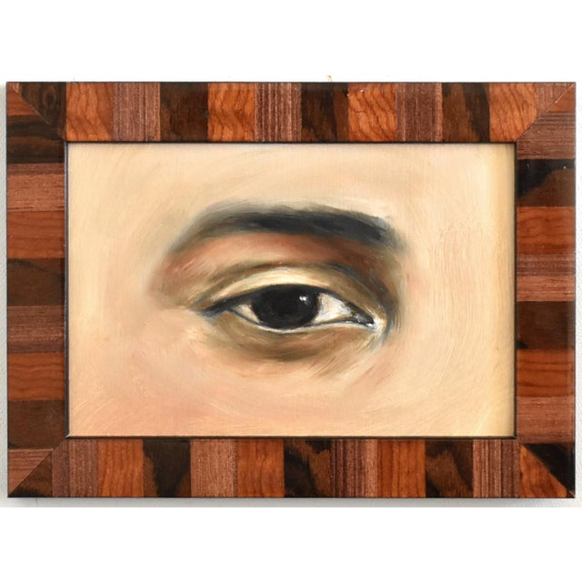 Contemporary Lover's Eye Oil Painting by Susannah Carson For Sale In San Francisco - Image 6 of 6
