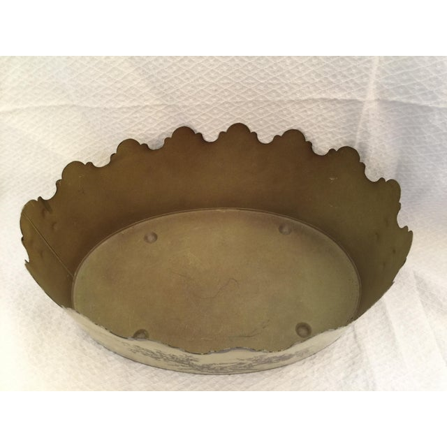 Vintage Italian Toleware Cachepot - Image 3 of 6
