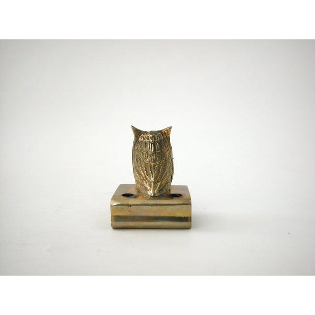 Vintage Brass Owl Pen Holder - Image 7 of 8