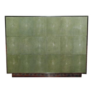 Large Three Drawers Shagreen Commode For Sale
