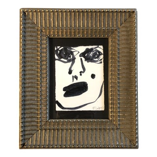 Original Contemporary Small Robert Cooke Abstract Face Painting For Sale
