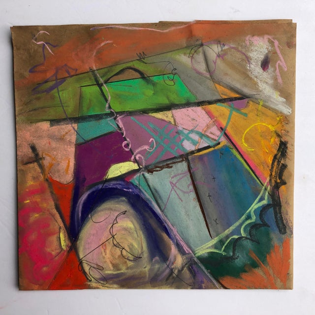 Farmers Field Original Abstract by Erik Sulander 12 X 12 For Sale - Image 4 of 4