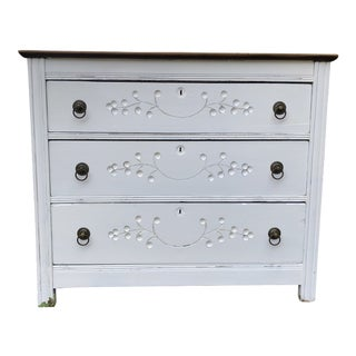 19th Century Shabby Chic Style 3 Drawer Chest For Sale