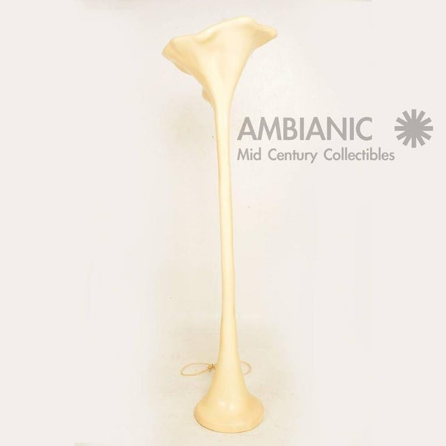 1960s Mid-Century Modern French Torchiere Floor Lamp For Sale - Image 5 of 8