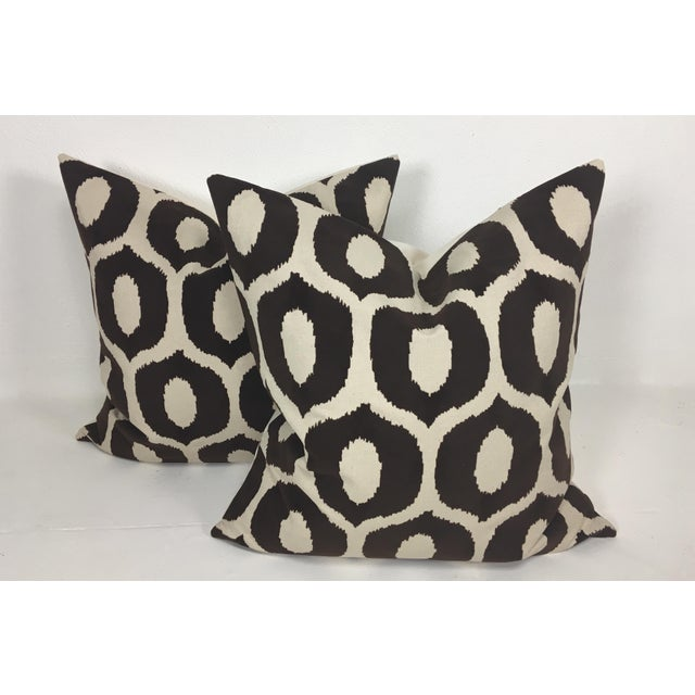 2010s Embossed Velvet Pillows – a Pair For Sale - Image 5 of 6