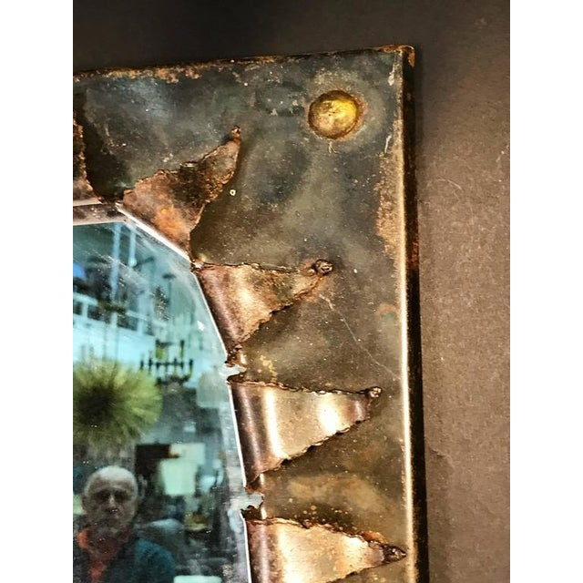 Glass Brutalist Eye Form Mirror For Sale - Image 7 of 9