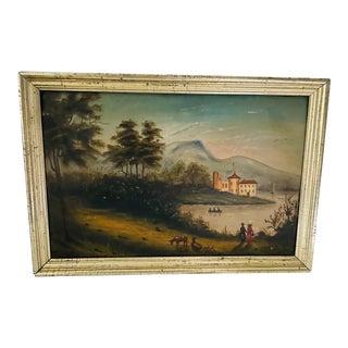 Antique Oil Painting of Landscape For Sale