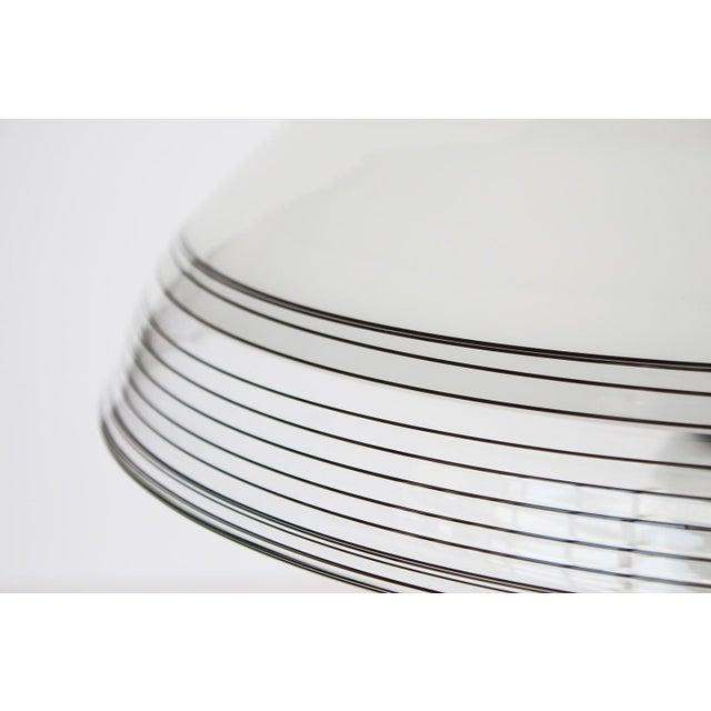 Italian Black and White Murano Swirl Glass Table Lamp - Image 8 of 10