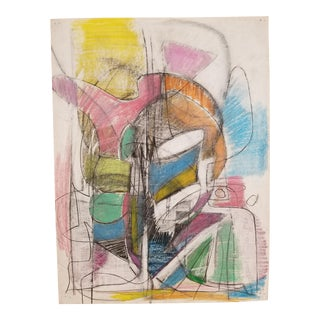 Abstract Pastel Drawing by Terry Frid For Sale
