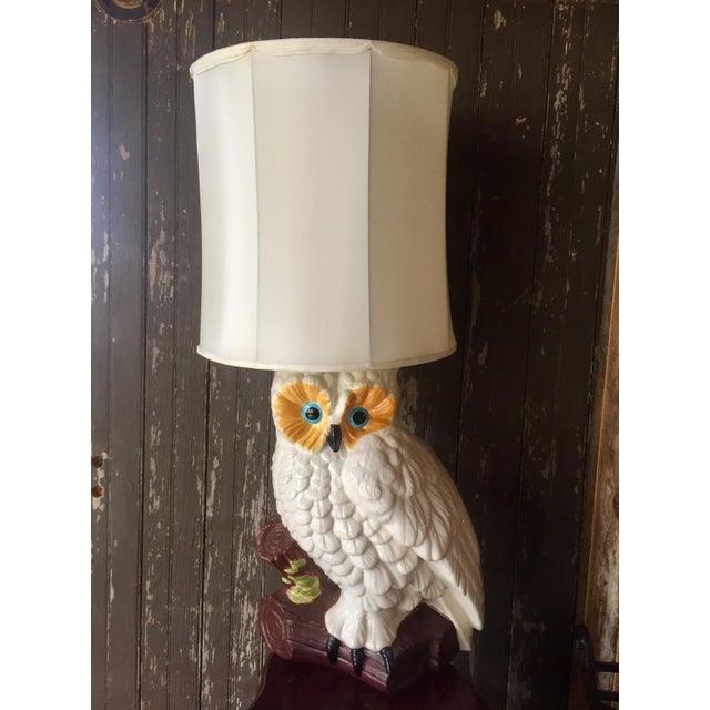 White Ceramic Owl Lamp - Image 2 of 4