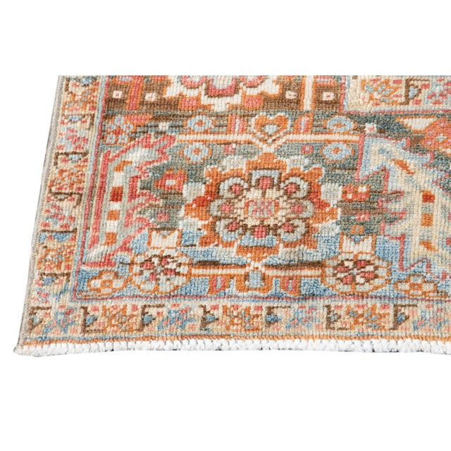 Early 20th Century Antique Heriz Wool Rug For Sale - Image 4 of 11
