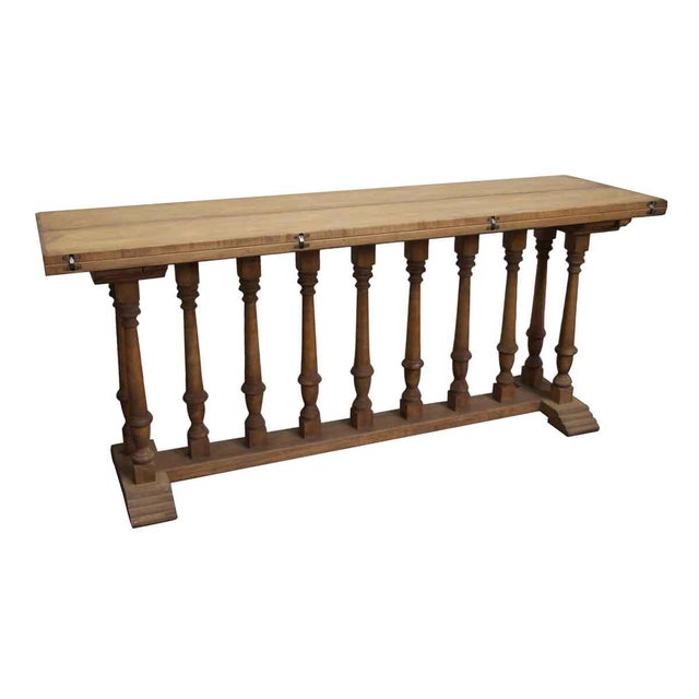 Spindle Leg Wooden Table For Sale - Image 5 of 6