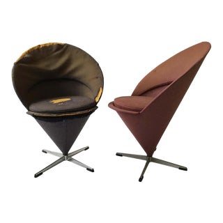 1960s Verner Panton Cone Chairs - a Pair For Sale