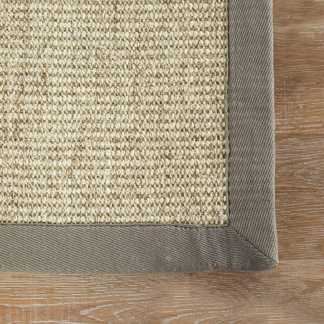 Contemporary Jaipur Living Palm Beach Natural Bordered Beige & Gray Area Rug - 8' X 10' For Sale - Image 3 of 6