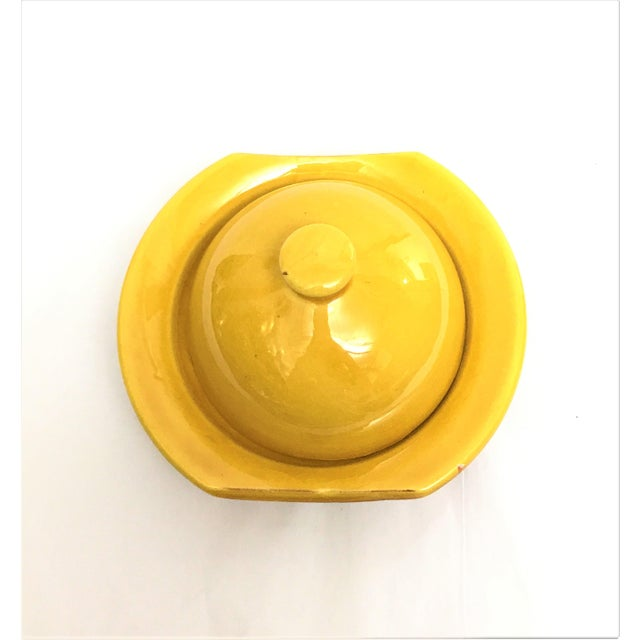 Hand Painted Yellow Small Moroccan Ceramic Serving Dish - Image 3 of 4