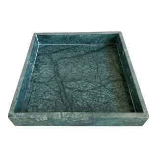 Italian Green Marble Tray For Sale