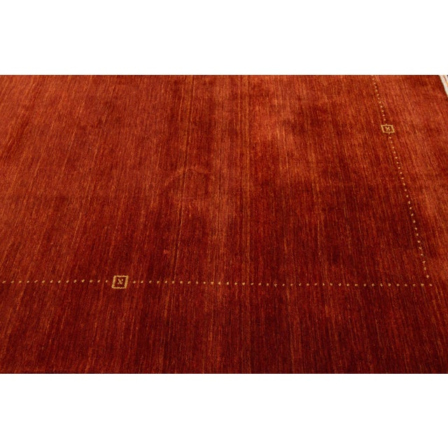 """Modern Indian Gabbeh Style Rug, 8'2"""" X 10'1"""" For Sale - Image 4 of 6"""