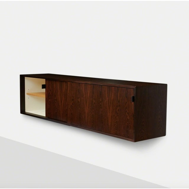 Mid-Century Modern Florence Knoll Floating Rosewood Credenza For Sale - Image 3 of 8