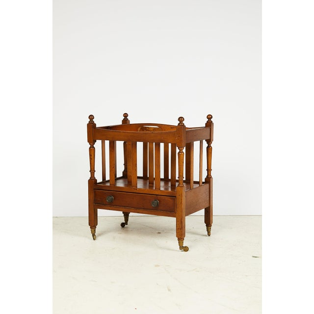 English Early 20th Century English Sheraton Style Canterbury For Sale - Image 3 of 13
