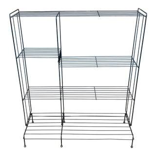 1950's Metal Wire Shelf Unit For Sale