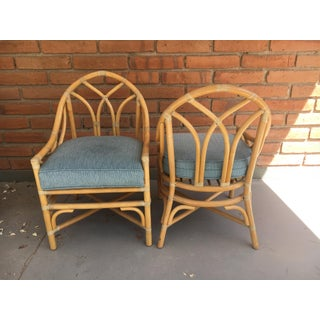 Late 20th Century Gothic Rattan Chairs- A Pair Preview