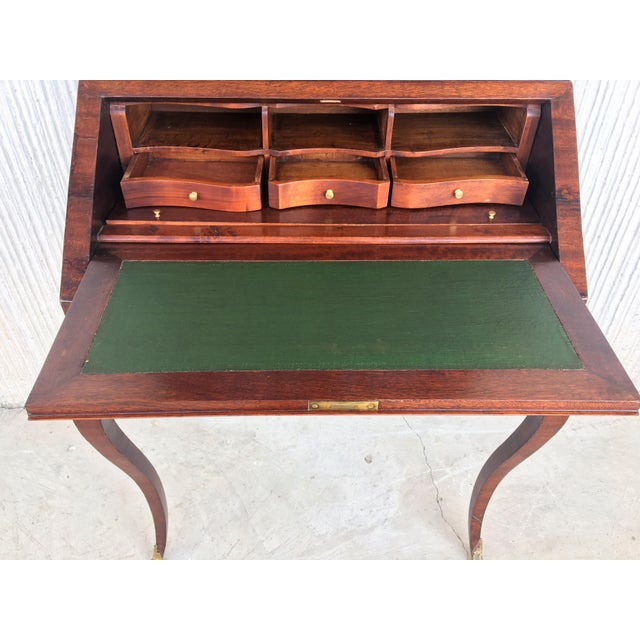 18th Century Louis XVI Style French Inlaid Secretary Desk For Sale - Image 9 of 13