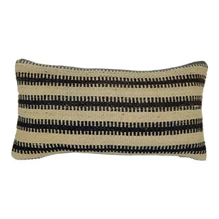 Antique Pillow Cases Made From a Late 19th Century Turkish Kilim, Traditional Wool Cushion Cover 10'' X 20'' (25 X 50 Cm) For Sale
