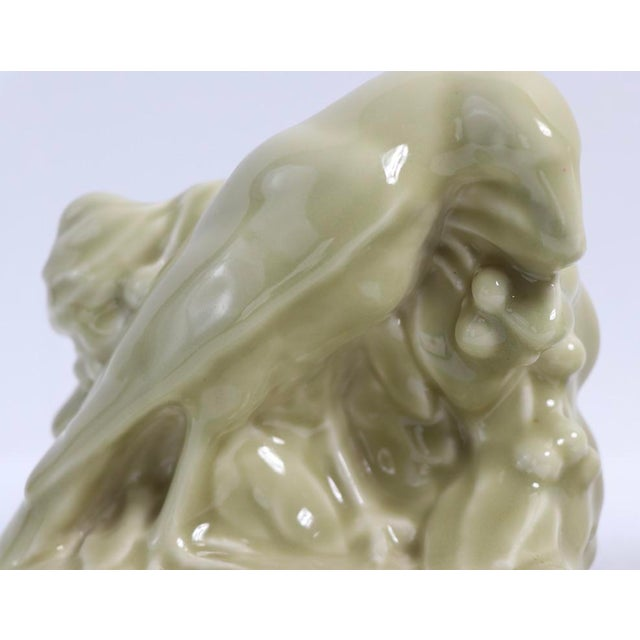 Ceramic Pr. Rookwood Raven Bookends Engineering Society of Cincinnati 1888 For Sale - Image 7 of 11