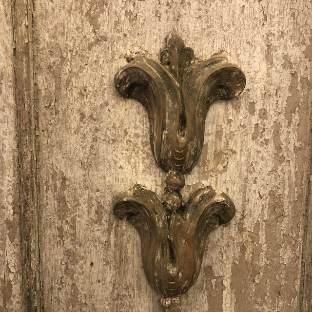 Wood Panels With Antique Fragments - A Pair For Sale - Image 4 of 7