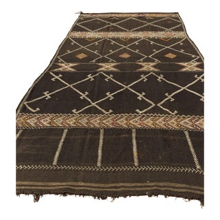 Vintage Moroccan African Nomadic Tribal Rug For Sale