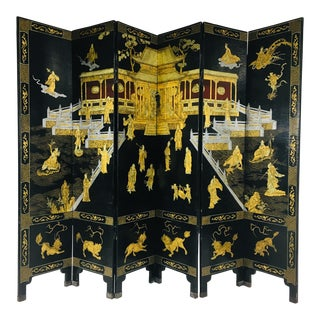 Chinese Hand Painted Folding Screen For Sale