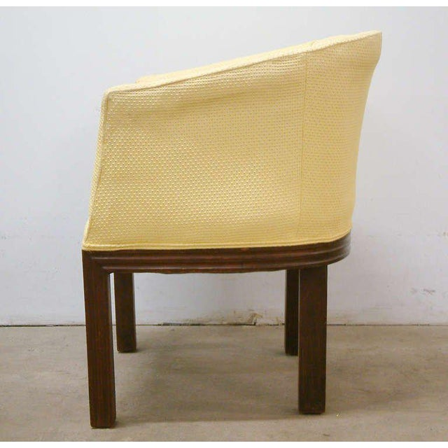 Alligator Circa 1950 Mid-Century Upholstered Yellow Arm Chairs - Pair For Sale - Image 7 of 11