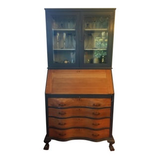 19th Century Chippendale Slant Front Mahogany Maddox Secretary Desk For Sale