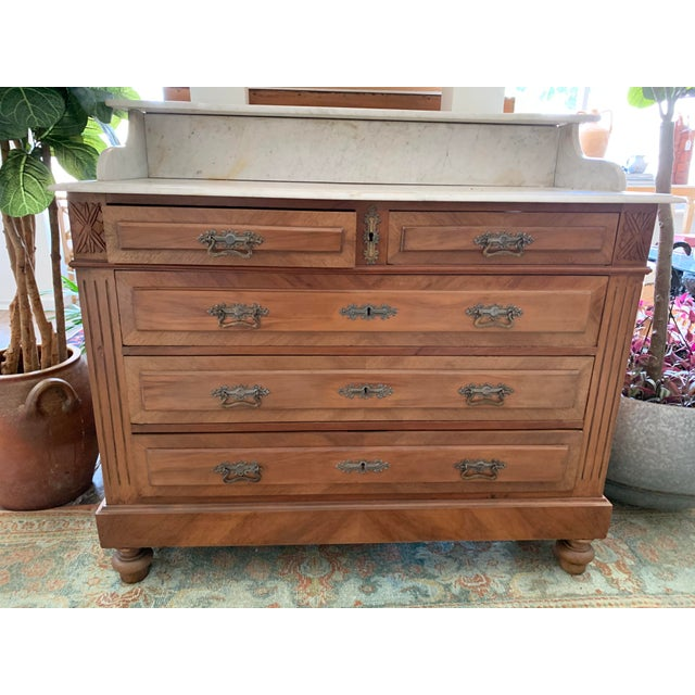 19th Century French Country Marble Top Dresser For Sale - Image 12 of 12