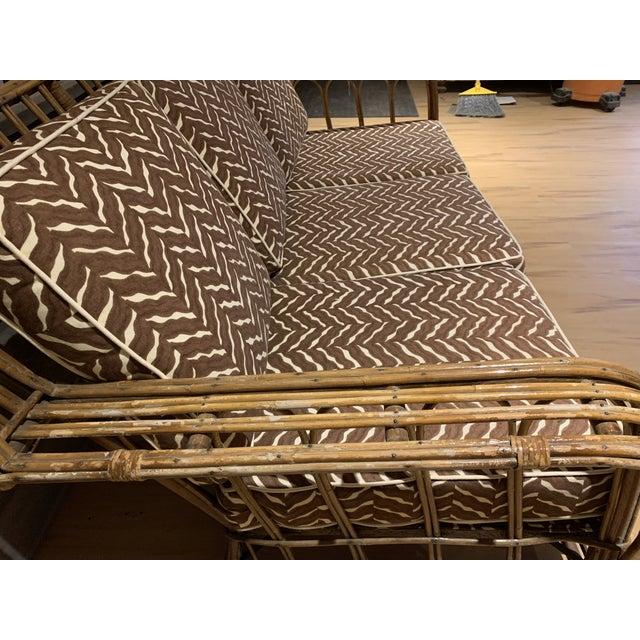 1930s Rattan 3 Cushion Sofa For Sale - Image 4 of 9