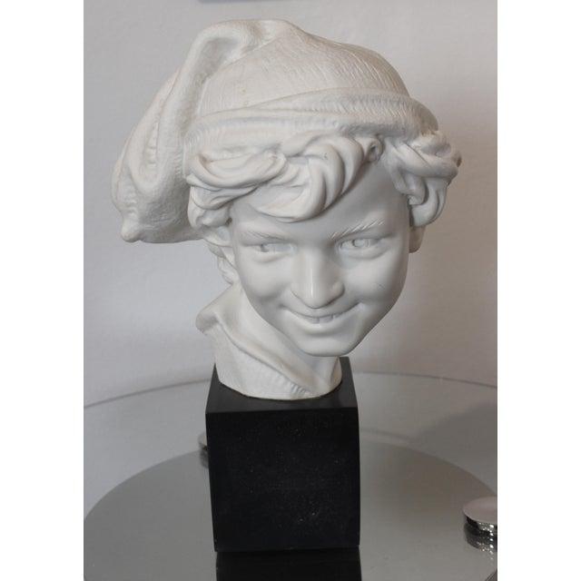 "Figurative Vintage Carpeaux Sculpture ""Neopolitan Fisherboy"" 1857 on Revolving Base For Sale - Image 3 of 11"
