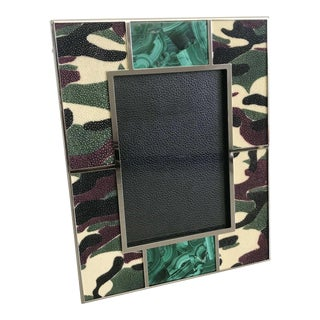 Camoflauge Shagreen Photo Frame by Fabio Ltd For Sale